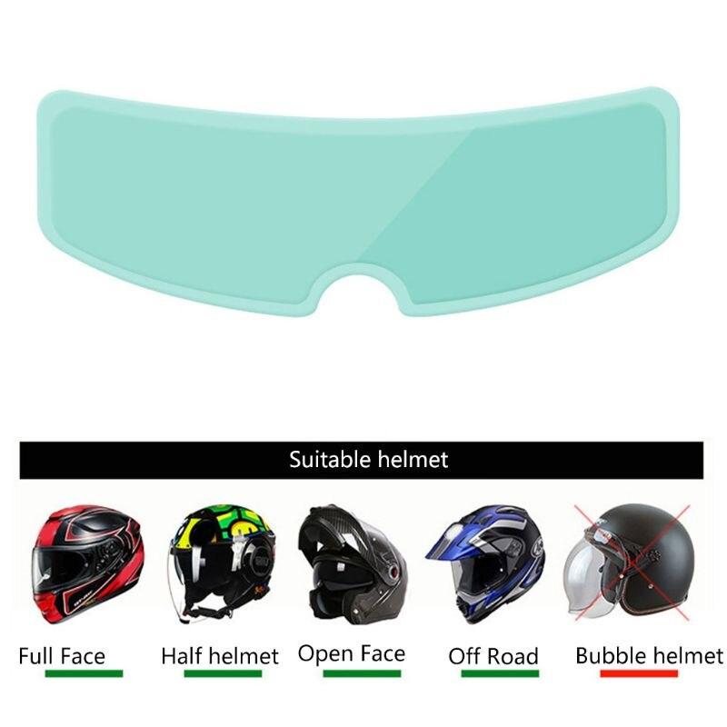 Universal Helm Klar Anti-Nebel Patch Film Motorrad Helm Objektiv Nebel Beständig Filme für Helme