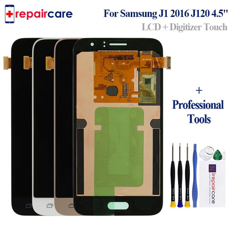 "Super AMOLED HD LCD reemplazo para Samsung Galaxy J120 2016 J120F J120H J120M LCDs 4,5 ""Pantalla táctil digitalizador la Asamblea"