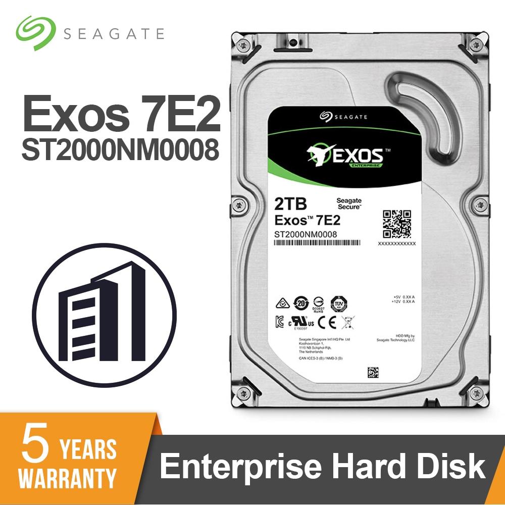 Seagate Exos 7E2 SATA 6 Gb/s 128MB Cache 3,5 pulgadas HDD de 2TB Enterprise Disco Duro ST2000NM0008