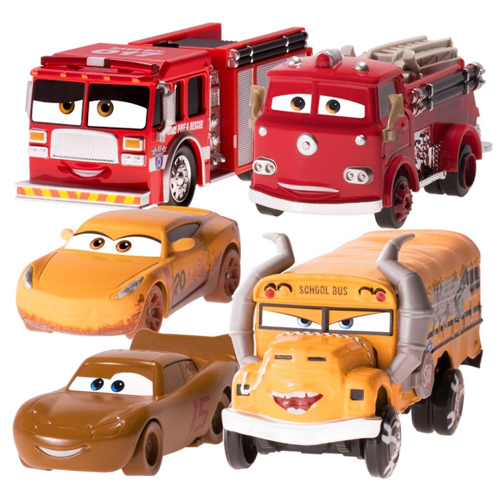 Disney pixar carros 2 3 lamacento mcqueen cruz vermelho firetruck fritter f1 55 diecast micro pilotos modelo de veículo brinquedo carro menino miúdo presente