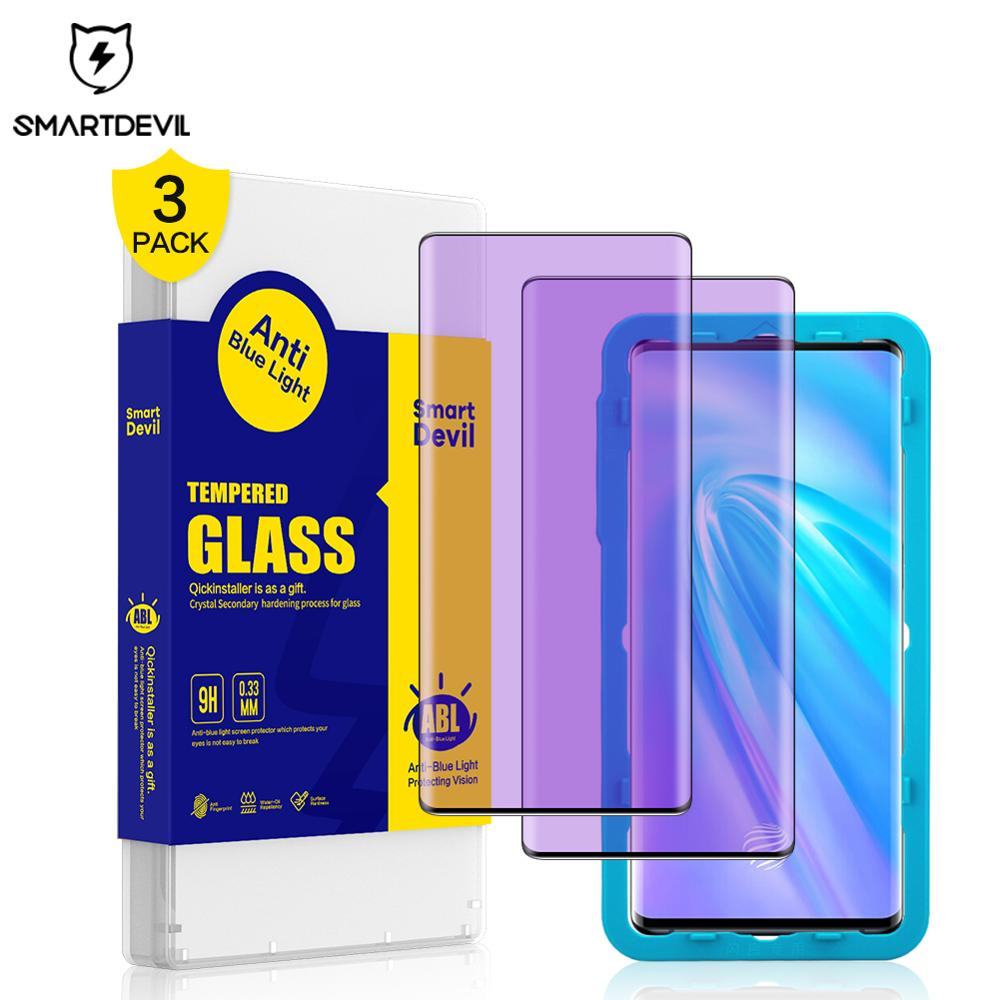 SmartDevil  For Vivo Nex 3 Anti Blue Light Tempered Glass For Vivo Nex 3 Screen Protector For Vivo Nex Global Version Blue Light
