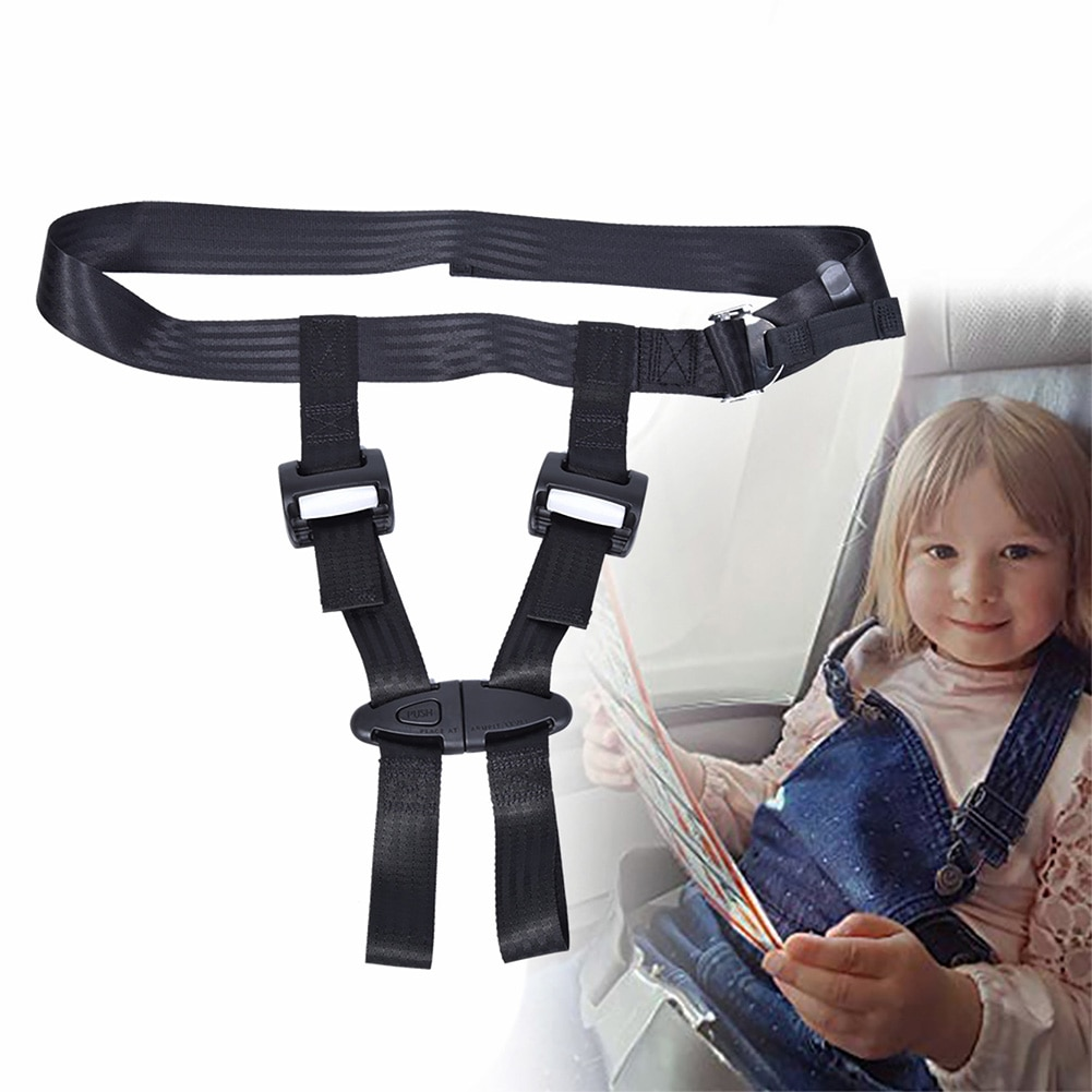 Child Lock Baby Car Seat Belt Airplane Travel Safety Harness CE Certified Portable Car Seat Belt