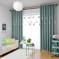 nordic style new modern minimalist wanjia high precision home curtains with lights curtains for living dining room bedroom