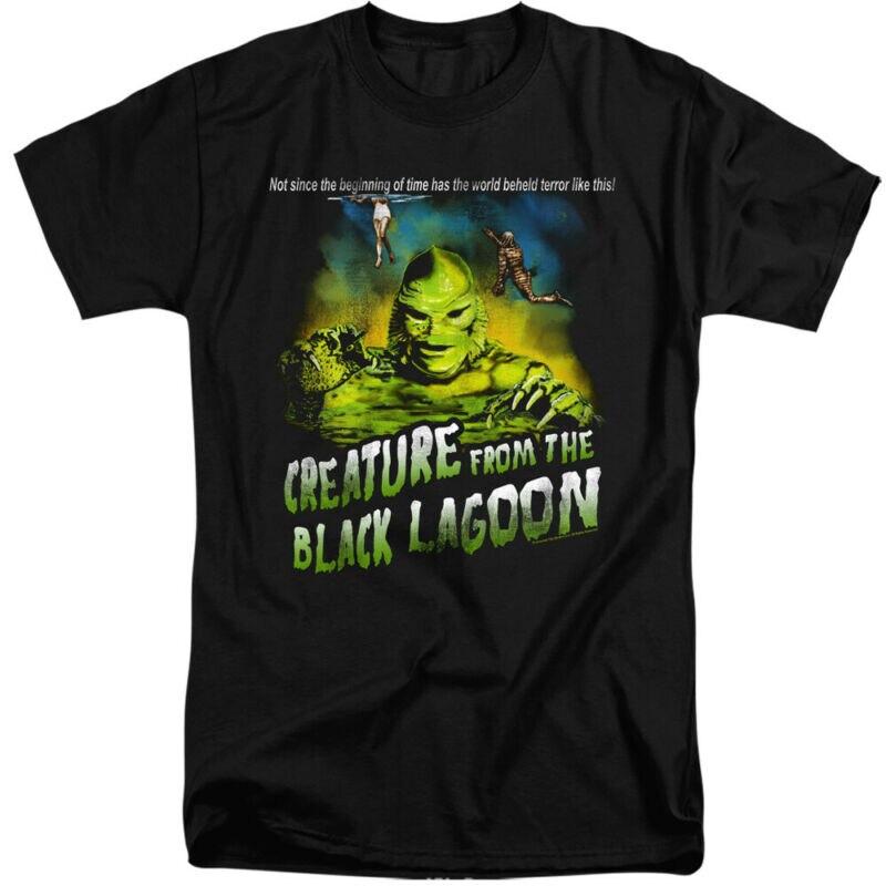 La criatura de la laguna Negra alto camiseta lema camiseta negra