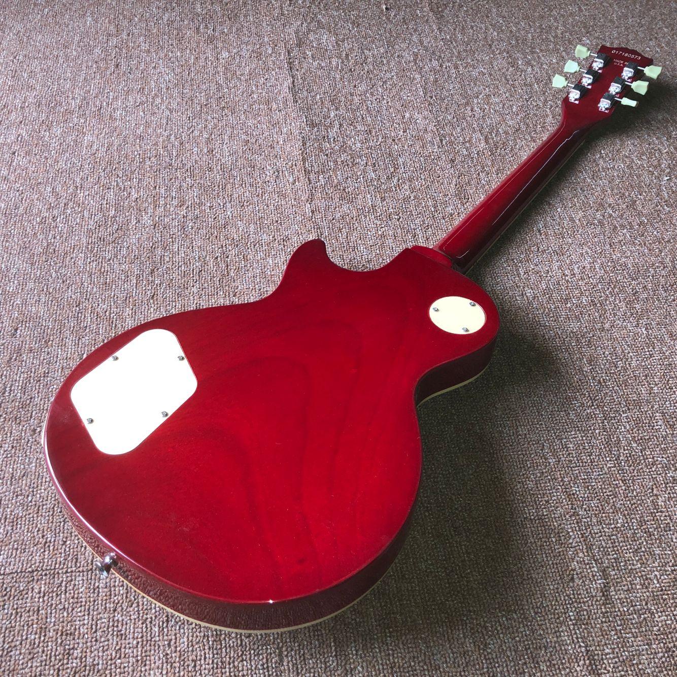 New standard Custom.Sunburst Tiger Flame electric guitar. mahogany body gitaar,handwork 6 Strings guitarra. enlarge