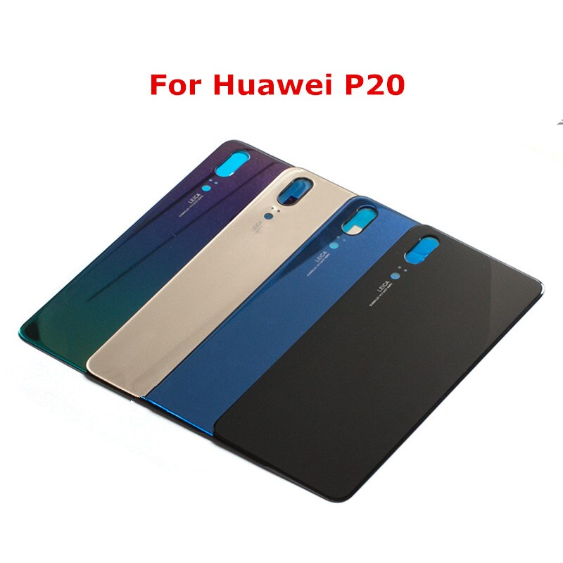 1x Glass Battery Housing Back Cover Case For Huawei P20 / P20 Pro Replacement Parts