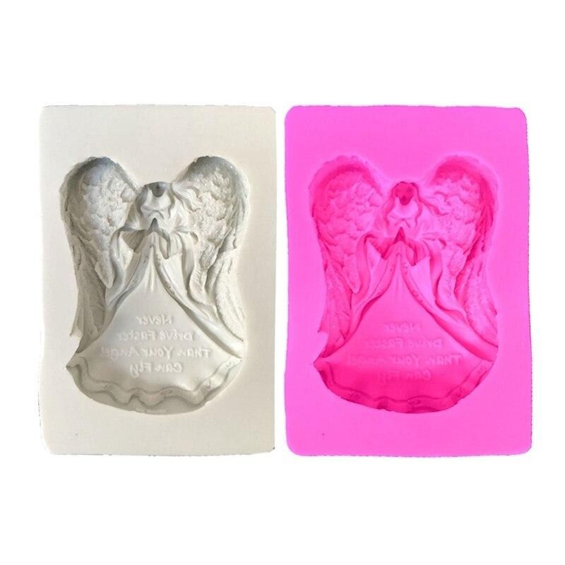 худи rock angel rock angel ro050ewgfzx4 Angel Epoxy Resin Silicone Mold Angel Emboss Silicone Mold Angel Cake Decor Mold 83XF