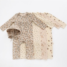 MILANCEL 2021 Autumn New Baby Clothes Cute Print Romper Long Sleeve Newborn Jumpduit Cotton Infant O