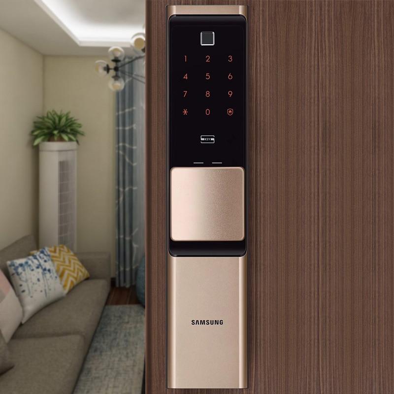 سامسونج بصمة الرقمية واي فاي قفل الباب IoT بدون مفتاح SHP-DR717/719 كبير Moritse