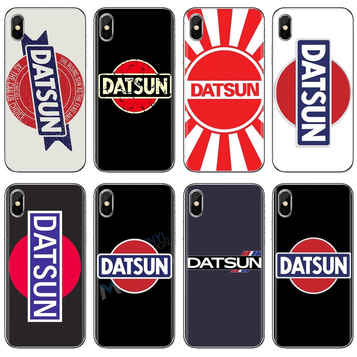 Para iPhone 11 Pro 4 4S 5 5S SE 5C 6 6S 7 7 8X10 XR XS Plus Max para iPod Touch Datsun logotipo Vector de NISSAN de arte de la caja de la piel del silicón