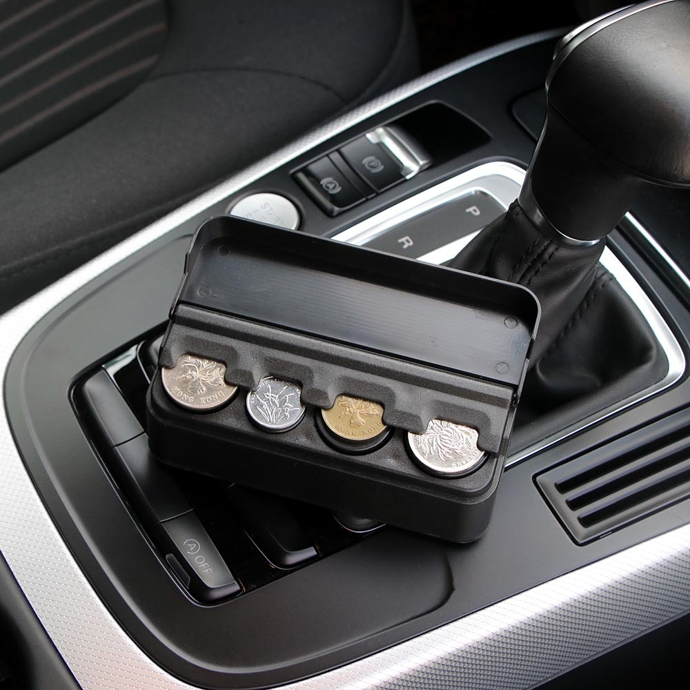 Caja de almacenamiento de monedas de coche, caja organizadora de bolsillo, contenedor para Ford Taurus Mondeo Galaxy Falcon Everest S-MAX Escort