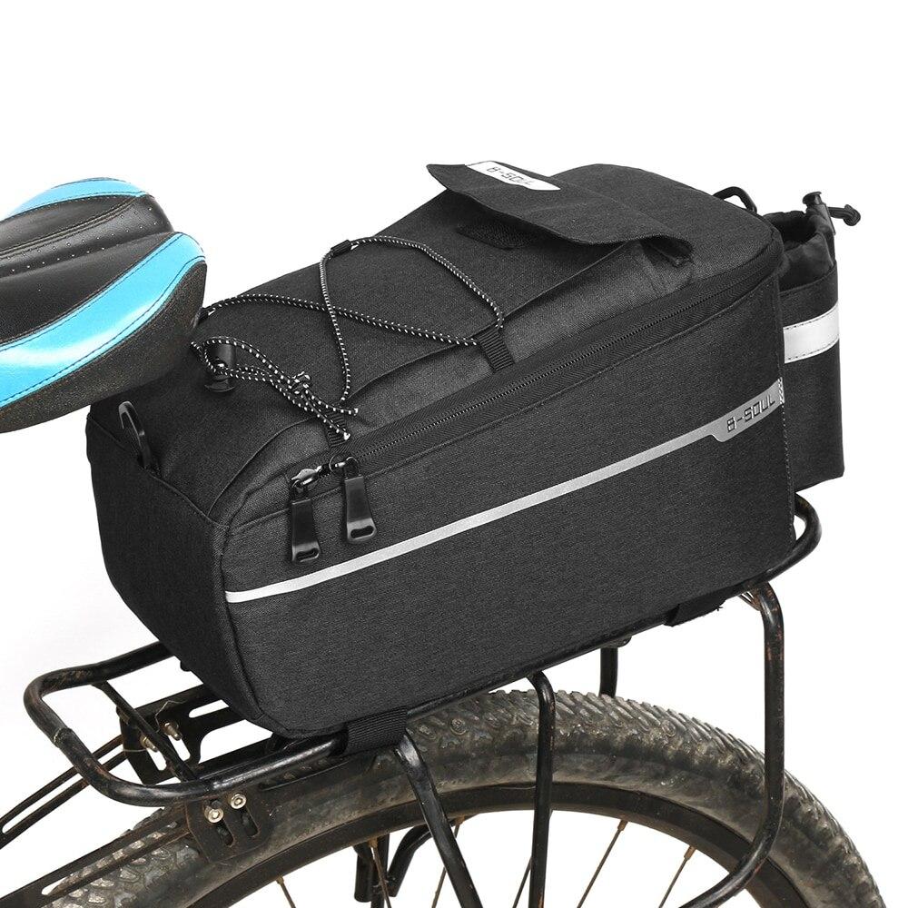 Bicicleta 13l saco portador da bicicleta rack pannier tronco cesta de volta assento prateleira bolsa ciclismo bagagem bolsa ombro bolsa da bicicleta traseira