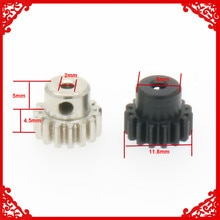 1PC Steel Pinion Gear Motor Gear 15T For Rc Model Car 1/18 Wltoys A959 A969 A979 K929 15teeth A58005