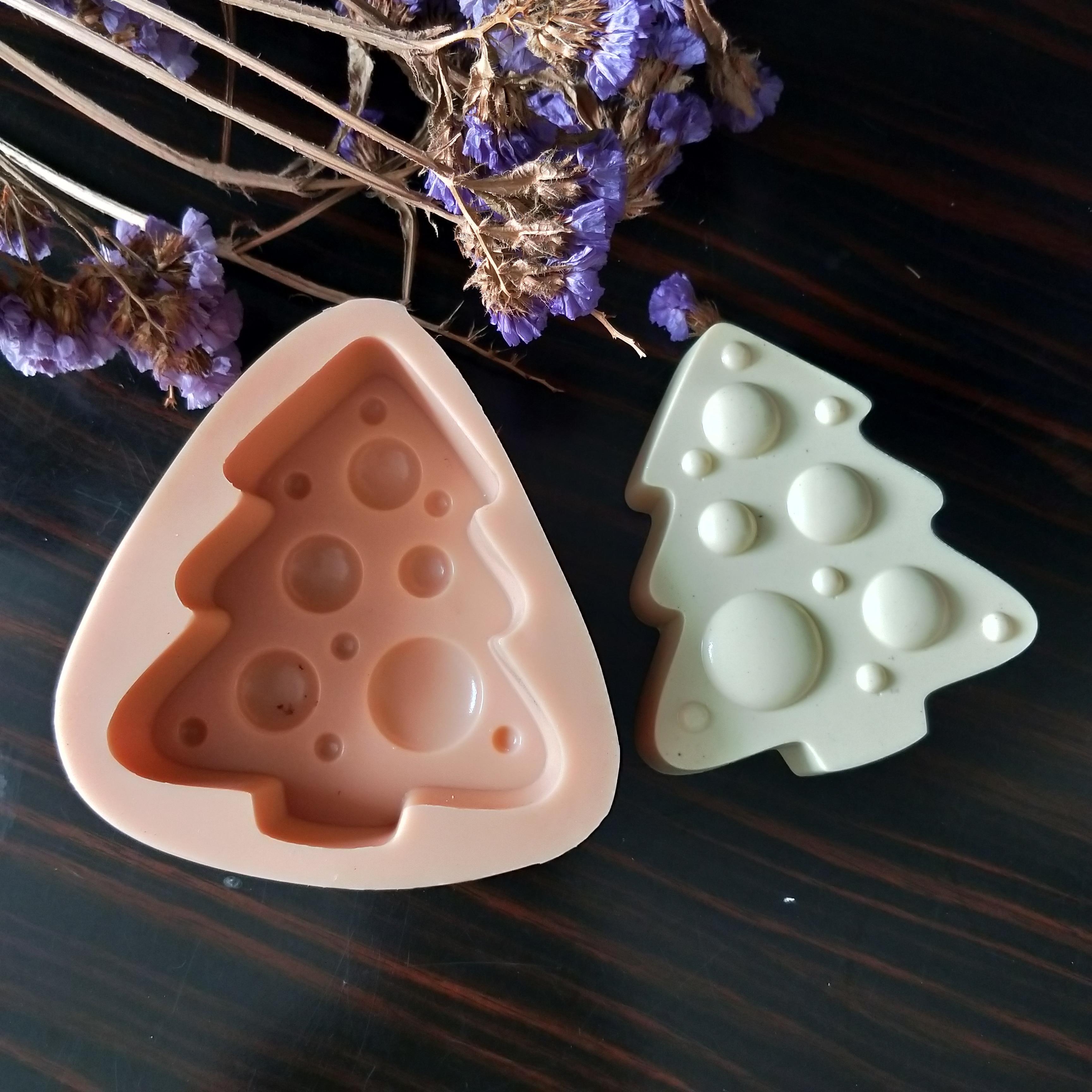 Ano sabonete natal moldes de sabão gesso chocolate vela molde de doces molde de silicone bolha árvore de natal argila resina hc0162 przy novo