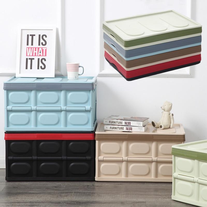 Caja de almacenamiento plegable multifunción para el hogar, organizador de PP, contenedor para maletero de coche, caja de tela para juguetes