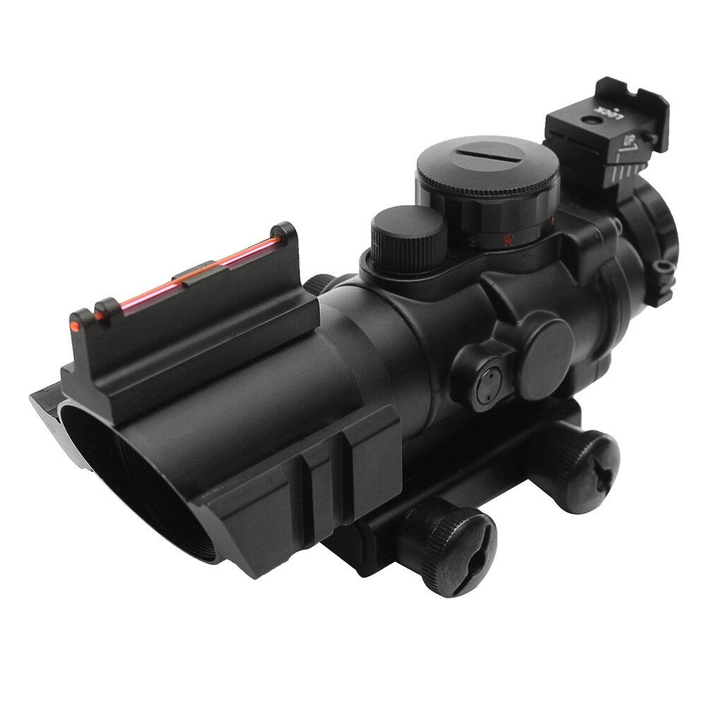 Tactical 4x32 Acog Riflescope 20mm Dovetail Reflex Optics Scope Sight For Hunting Gun Rifle Airsoft Sniper Magnifier
