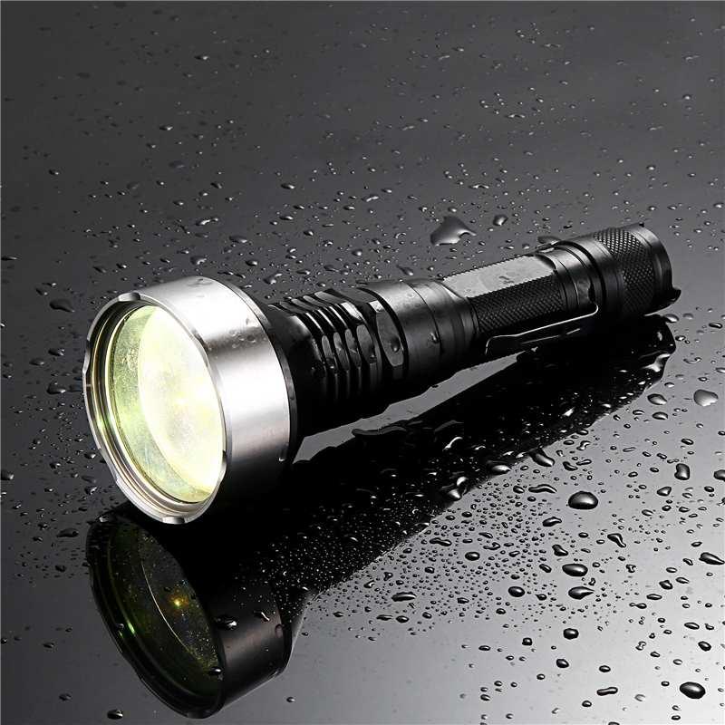 JETBEAM M1X WP-RX 480 lúmenes 2300m interruptor táctico linterna láser blanca impermeable reflector focos linterna Camping