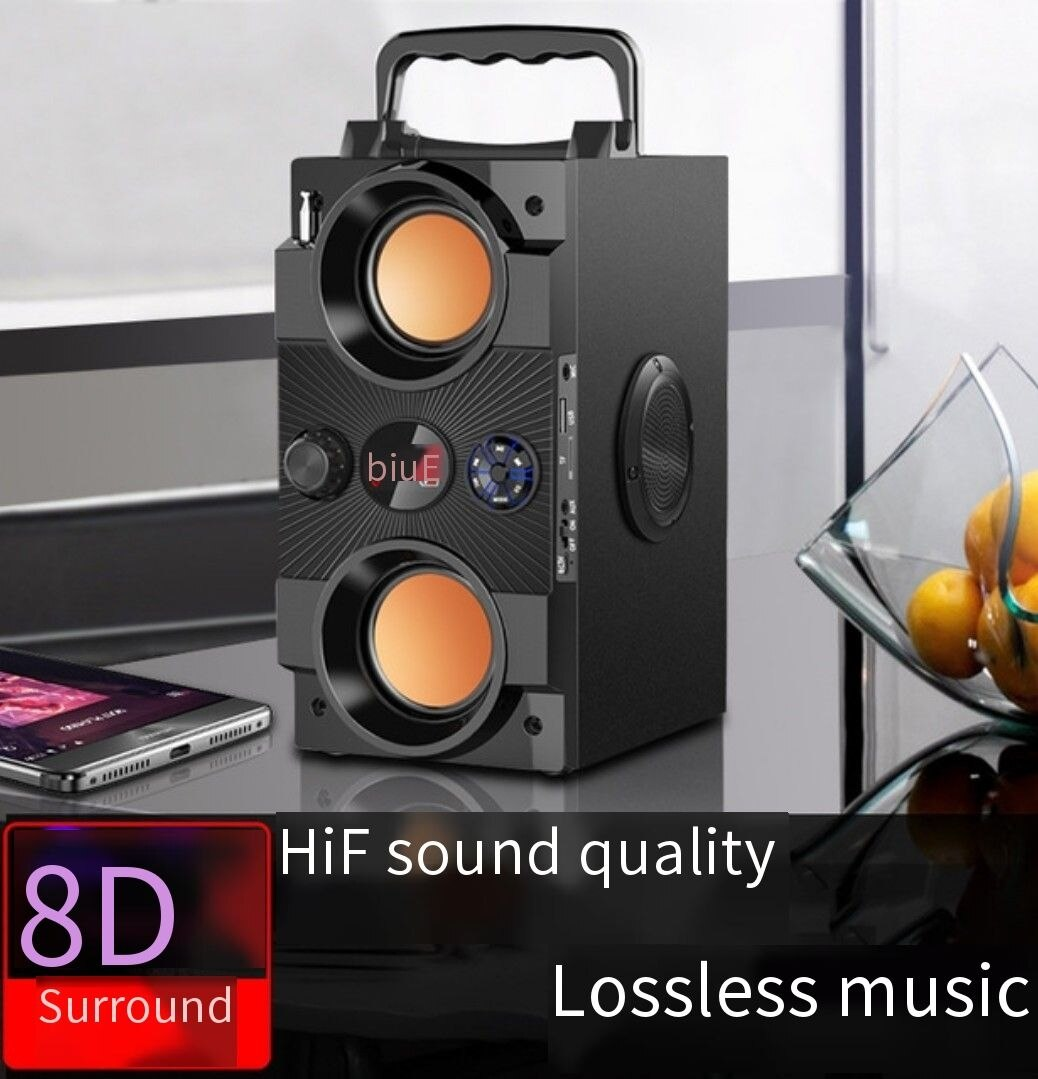 Altavoz Bluetooth portátil de gran potencia 40W, Boombox Subwoofer para exteriores, centro de música de sonido con columna, soporte AUX TF FM