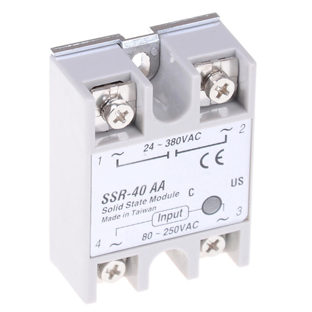 SSR-40AA 40A AC Control 80-250VAC TO 24-380VAC H Relay Solid State Resistance Regulator Solid State Relay  HFD2/005-S-L2-D Realy