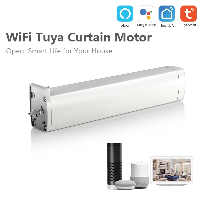 WIFI Electric Curtain Motor Tuya/Smart App Remote Control Vioce Control Work With Alexa Google Home Curtain Control System HOT