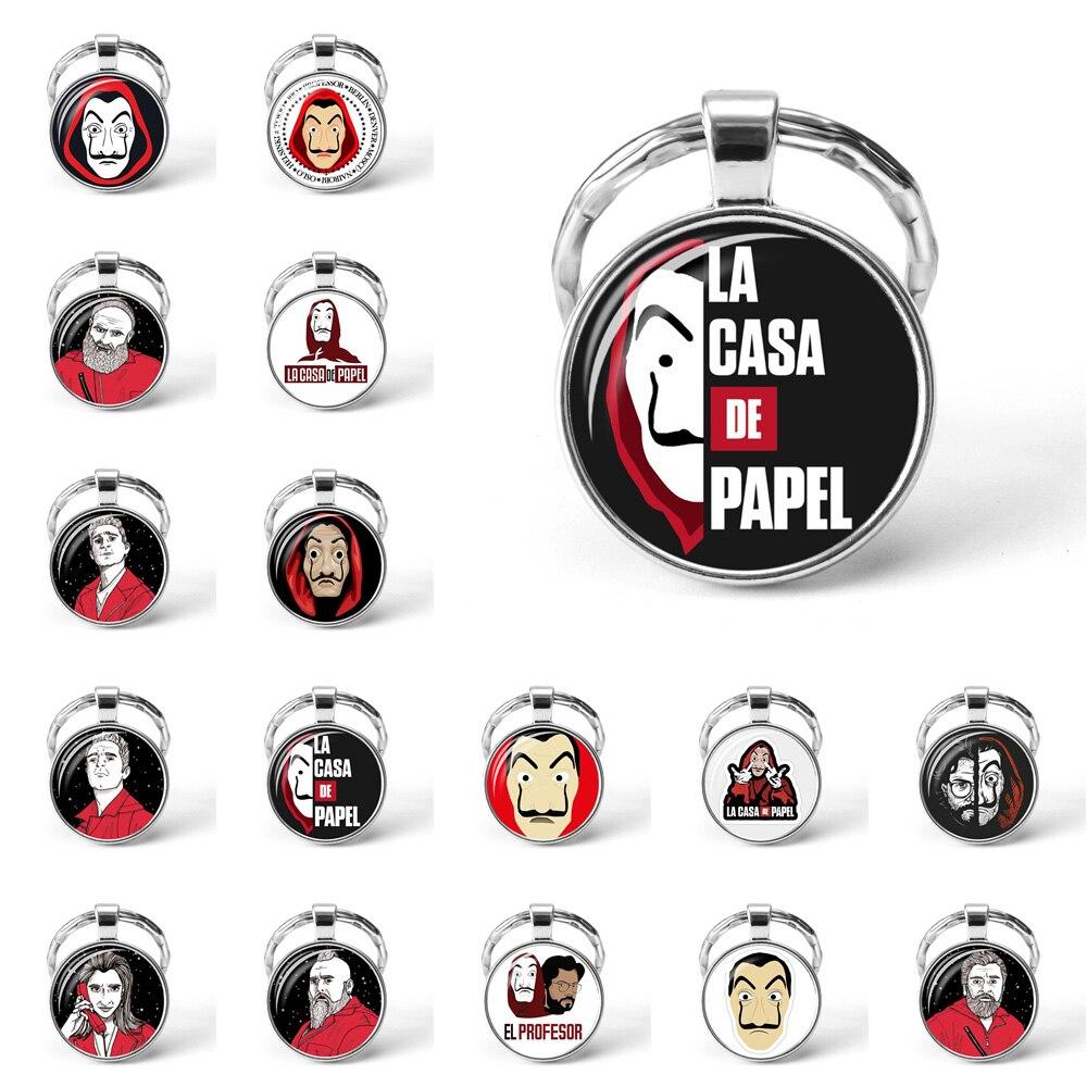 La Casa De Papel брелок для дома Paper, ожерелье, брелок для денег, Salvador Dali профессора, забавная цепочка для ключей, ювелирное изделие, подарок