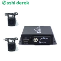 car vehicle mobile dvr support ahd cvbs cameras dual sd card slot automatic motion detection mini 2channel dvr hdmi video output