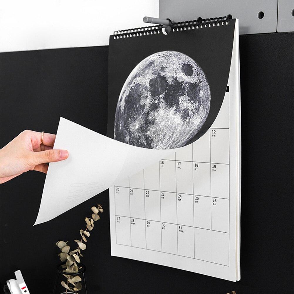 Календарь 2021, ежемесячный настенный календарь, 12 месяцев, большие блоки отлично подходят для маркировки и планирования, обмотка