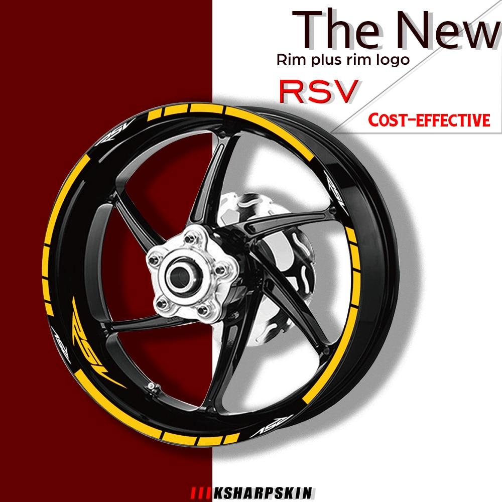 Jantes da motocicleta adesivos conjunto roda decalques terno para aprilia rsv uso para duas rodas decalques rsv sinal adesivo