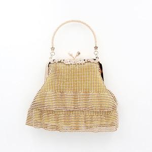 New style portable dinner bag, diamond bag, women's dress tassel party bag