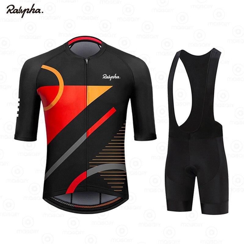 2021 RALVPHA-traje de Ciclismo profesional para hombre... Maillot de manga corta de...