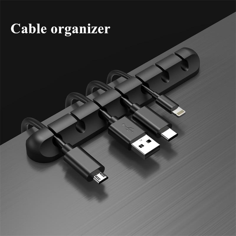 Organizador de gestión de Cables, Clip de Teléfono de Escritorio de oficina,...