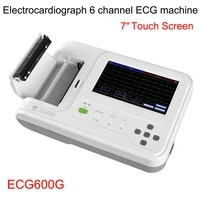 hot contec ecg600g 6 channel 12 lead digital cardiology ekg ecg machine witeh software