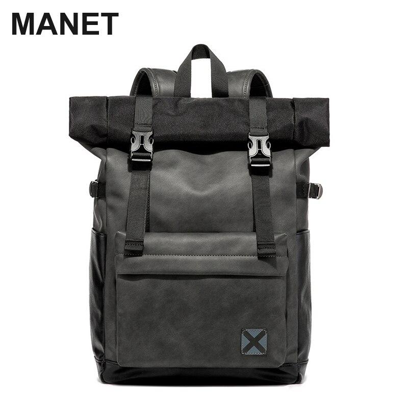 MANET брендовый мужской рюкзак для ноутбука, Женский винтажный рюкзак, Подростковая дорожная женская сумка для школы и колледжа, вместительна...