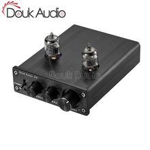 Douk de Audio Mini preamplificador de tubo al vacío de alta fidelidad estéreo de Audio Bass Preamp Control de tono