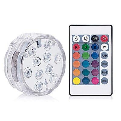 IP65 impermeable sumergible multicolor luces LED Lámpara de noche submarina té florero con luz de fiesta de Navidad de la boda decoración
