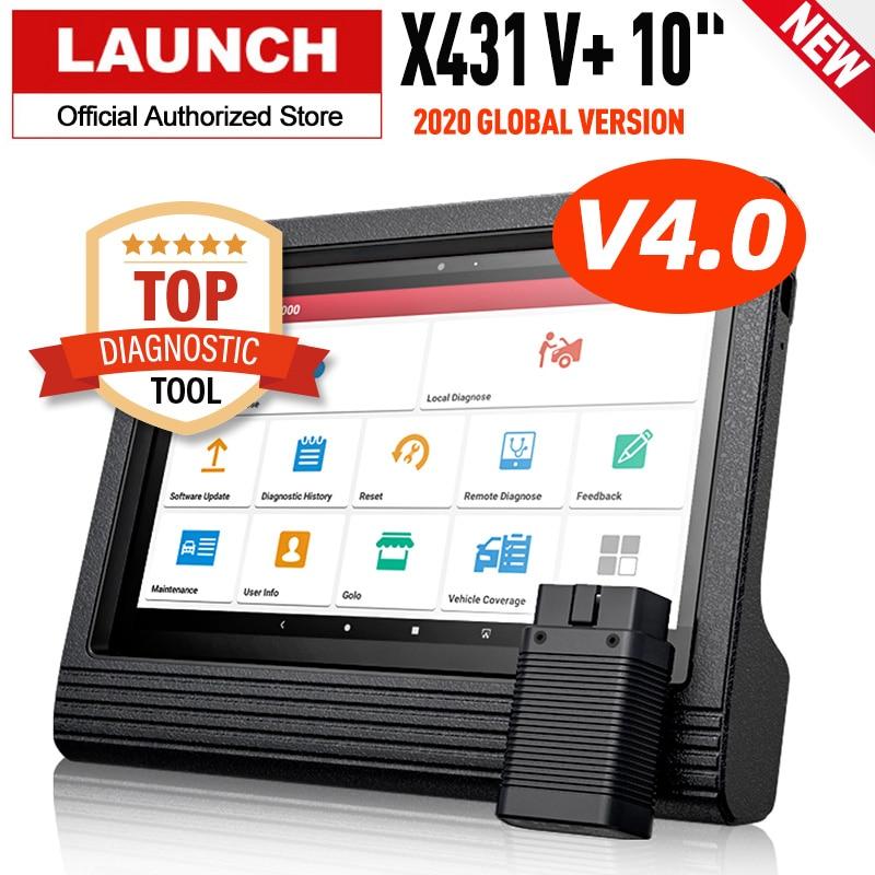 Original launch X431 V + 10 zoll Tablet Professionelle Auto Diagnose Werkzeug Auto Scan Pad Automotive Scanner Universal ECU Codierung