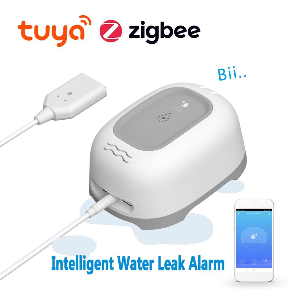 تويا زيجبي ذكي أداة إنذار مستوى المياه تسرب المياه أجهزة استشعار مستوى المياه رصد عن بعد المياه كاشف التسريب