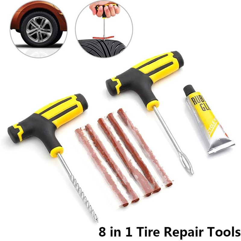 Автомобильная бескамерная пробка для шин мотоцикла и велосипеда, автомобильные запчасти, инструменты для ремонта автомобильных шин, компл...