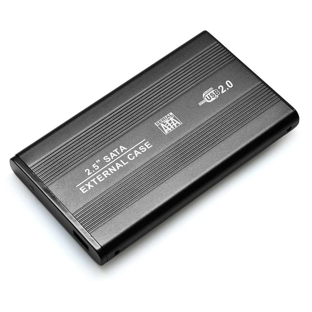 USB 2.0 SATA 2.5 Inch External Laptop Hard Drive Disk HD HDD SSD Storage Case Cover Caddy Enclosure Portable Box Black