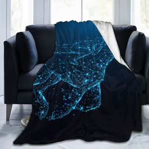 Unique Blanket to Family Friends Man Riding Horse Starlight Durable Super Soft Comfortable for Home Gift Blanket