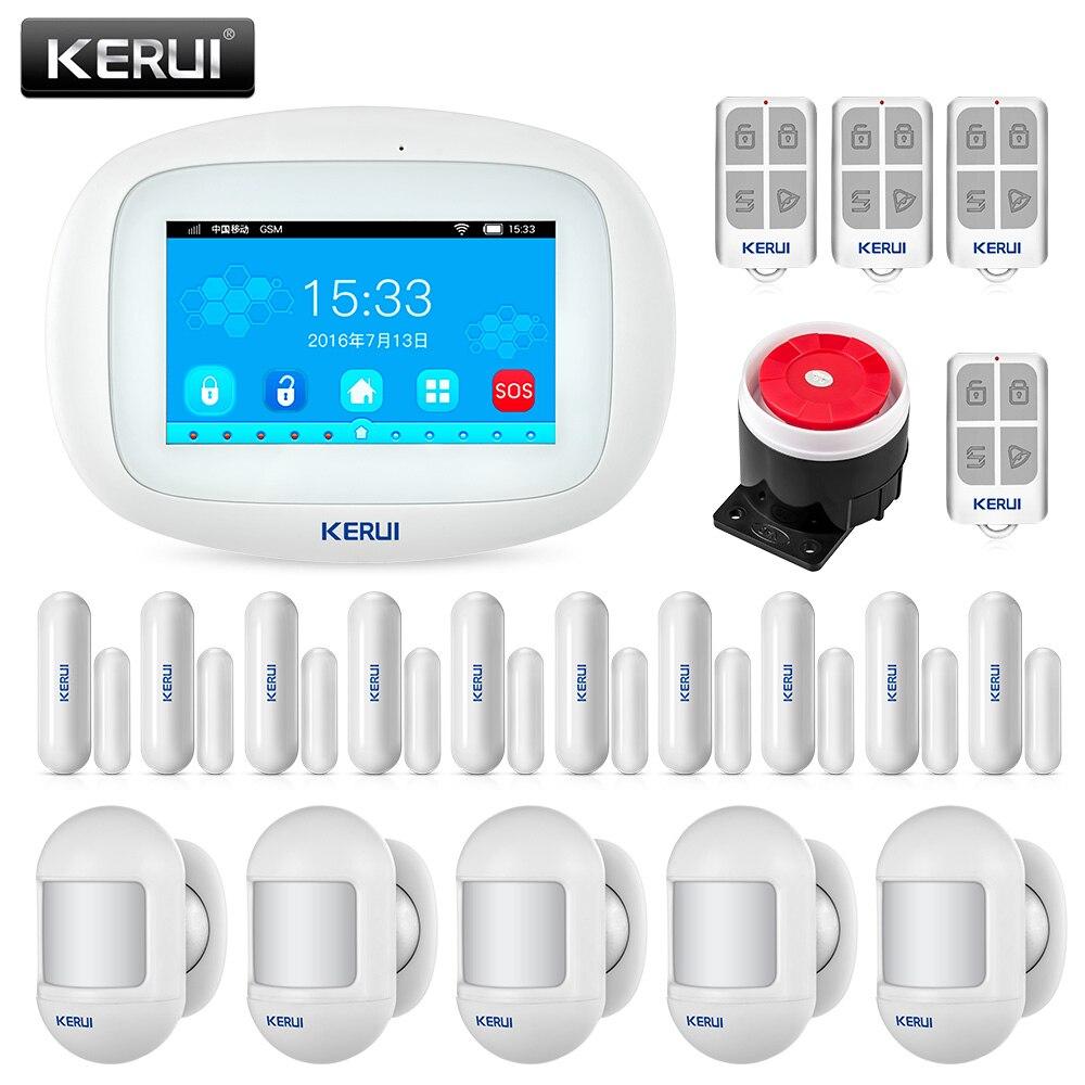 KERUI K52 Große Touchscreen WIFI GSM Alarm System für home TFT Display Home Alarm System Sicherheit Motion Detektor Metall fernbedienung
