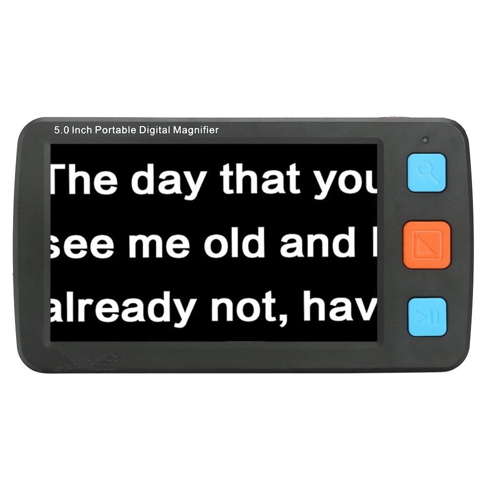 مكبر فيديو محمول ، عدسة مكبرة LCD محمولة 32X ، 5 بوصة ، مساعد رؤية منخفض ، مجهر إلكتروني ، قراءة مجهر رقمي