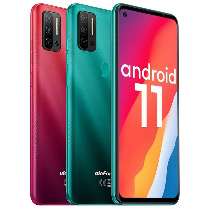 Перейти на Алиэкспресс и купить Чехол-накладка Ulefone Примечание 11P Android 11 8 ГБ 128 сотовые телефоны 4G разблокированый 4400 мА/ч, 48MP Камера 6,55 дюймовый смартфон с масштабным видени...
