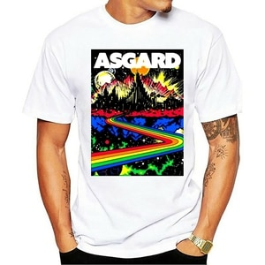 2021 Summer Welcome To Asgard Home Of The Gods Odin Thor Loki Mens Black T-Shirt Xxxtentacion Michael Jackson