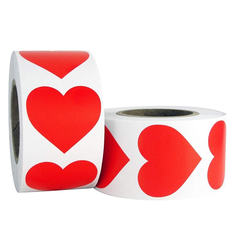 500 шт/рулон в форме сердца любовь наклейки этикетки для печати скрапбукинга для упаковки подарков на день рождения поставки милый стикер для канцелярских товаров