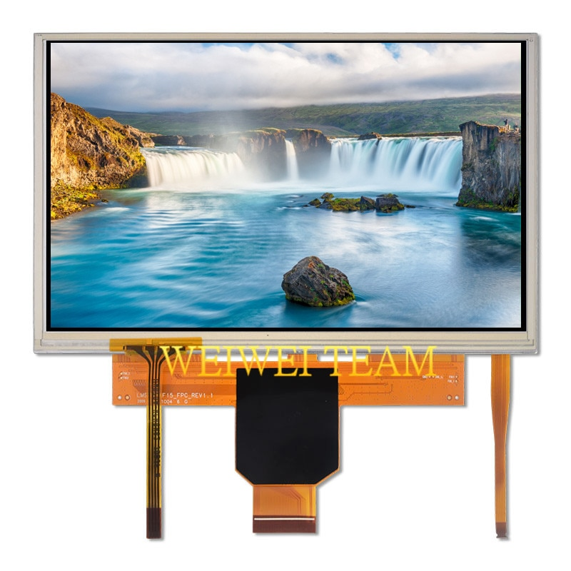 LMS700KF15 7 polegada TFT Display LCD Tela LCD Painel de 800x480 WVGA com Digitador de Vidro Da Tela De Toque Nova Marca