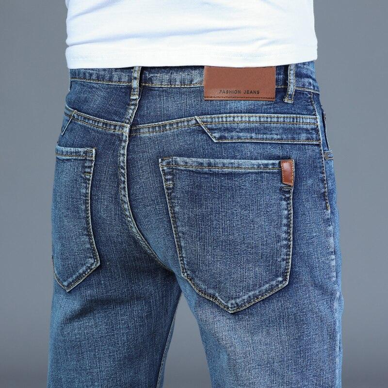 Pantalones vaqueros inteligentes para hombre... pantaln Denim elstico... recto... clsico de talla...