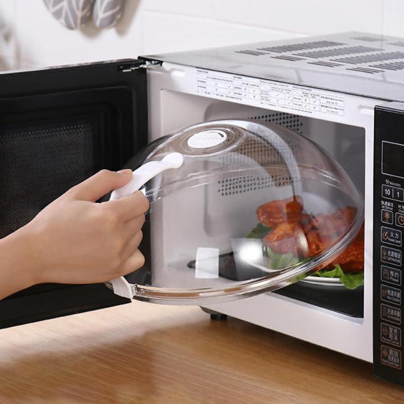 [해외] 전문 전자 레인지 식품 안티 스퍼터링 커버 손잡이 내열성 뚜껑 전자 레인지 식품 Dropshipping