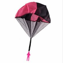 Durable Safe Parachute Kids Hand Throw Parachute Toy Free Toss It Up and Watch Landing Assorted Colo