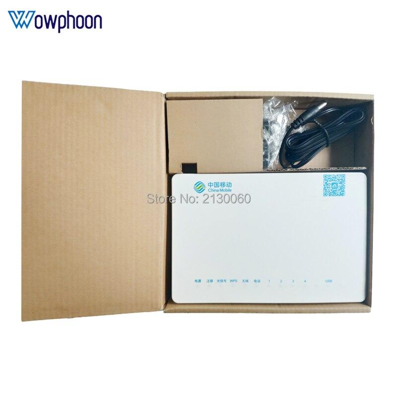 Envío Gratis Original ZTE zxhn F663N GPON 3FE + 1GE + 1Tel + USB + Wifi ONU ONT firmware inglés función es la misma como HG8546M